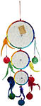 Dream Catcher: Large Three Rings with shell, 12 inch