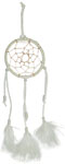 Dream Catcher: White with white feathers, 11 inch
