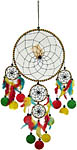 Dream Catcher: Large Five Rings with shell, 16 inch
