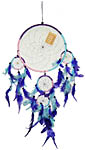 Dream Catcher: Large Five Rings, mostly blue, 16 inch