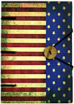 Handmade Journal: Rustic USA Flag (NEW)