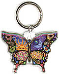 Keyring: Butterfly Celestial, metal