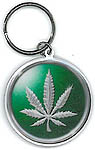 Keyring: Hemp Leaf Green