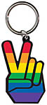 Keyring: Rainbow Peace Hand (NEW)