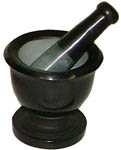 Mortar & Pestle, Soapstone: Shiny Black