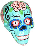 Decorative Sugar Skulls, Assorted Colors, 3 inch