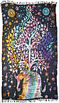 Sarong 44x72 inch: Elephant Tree, Tie Dye (NEW)