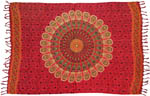 Sarong 44x72 inch: Peacock, Red (NEW)
