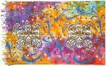 Mini Sarong 22x72 inch: Turtles