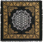 Altar Cloth 18x18 inch: Flower of Life