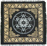 Altar Cloth 18x18 inch: Metatron's Cube