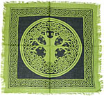 Altar Cloth 18x18 inch: Tree of Life, Green (NEW)