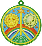 Color Sticker: LS Rainbow Peace, 4.5 inch (NEW)