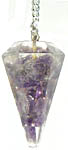 Pendulum: Amethyst Orgone, 1-2 in (NEW)