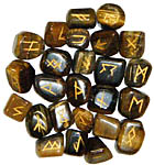 Runes: Tigers Eye rune set, 25 pcs (NEW)