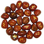Runes: Red Jasper rune set, 25 pcs (NEW)