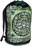Cotton Backpack: The Green Man
