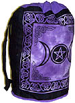 Cotton Backpack: Triple Moon Pentacle