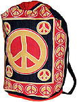 Cotton Backpack: Peace