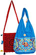 Purse: Embroidered designs in assorted colors