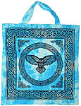 Tote Bag: Owl, Turquoise