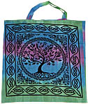 Tote Bag: Tree of Life, TIE DYE (NEW)
