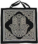 Tote Bag: Hamsa Hand, WHITE (NEW)