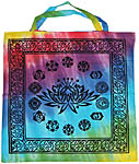 Tote Bag: Lotus with Chakra Symbols (NEW)