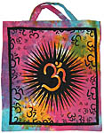 Tote Bag: Om Sunburst, Tie Dye (NEW)