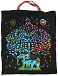 Tote Bag: Elephant Tree of Life, Tie Dye (NEW)