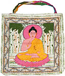 Tote Bag: Buddha, Brush Paint (NEW)