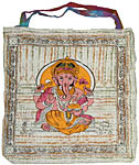 Tote Bag: Ganesh, Brush Paint (NEW)