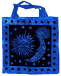 Tote Bag: Sun and Moon, BLUE