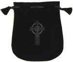 Velvet Pouch: Celtic Cross