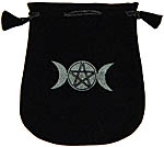 Velvet Pouch: Triple Moon Pentacle (NEW)