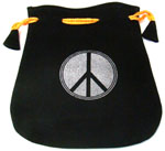 Velvet Pouch: Peace Sign
