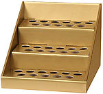 GOLD Cardboard Display for Scented Oils, 33 slots