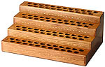 Wooden Display for Scented Oils, 92 slots