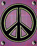 Blacklight Tapestry: Peace (CLOSEOUT)