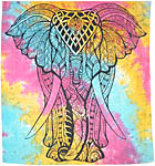 Full Size Tapestry: Elephant, Tie Dye (NEW)