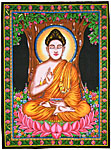 Tapestry: Buddha with sequins 30x40 (NEW)
