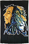 Twin Size Tapestry: Lion and Bob Marley