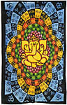 Twin Size Tapestry: Lotus Ganesh