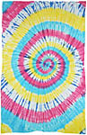 Twin Size Tapestry: Spiral Tie Dye