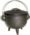 GREY 4.5 inch Cauldron with Lid, Plain