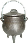 GREY 3.5 inch Cauldron with Lid, Plain