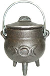 GREY 3.5 inch Cauldron with Lid, Moon