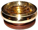 Screen Top Brass Burner, 3 inches wide