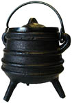Striped Cast Iron Cauldron, 3.25 inch
