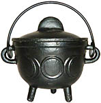 BLACK 4.5 Inch Cauldron with Lid, Moon